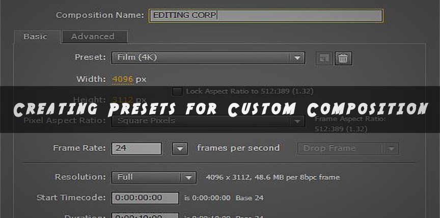 preset for custom composition