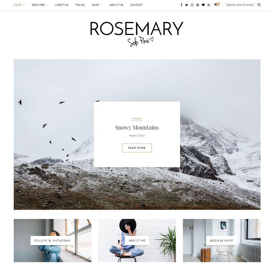 Rosemary wordpress theme female bloggers