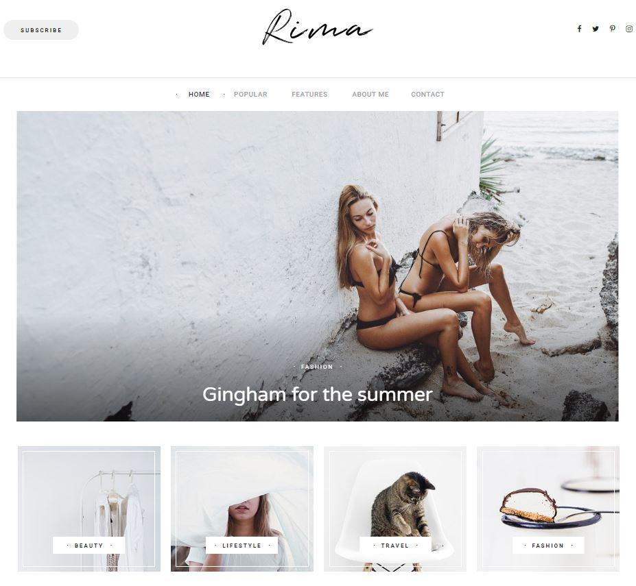 Rima wordpress theme
