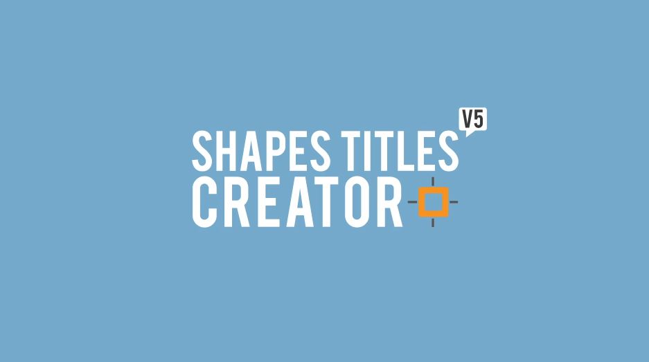 Shapes Titles Creator After Effects Scripts