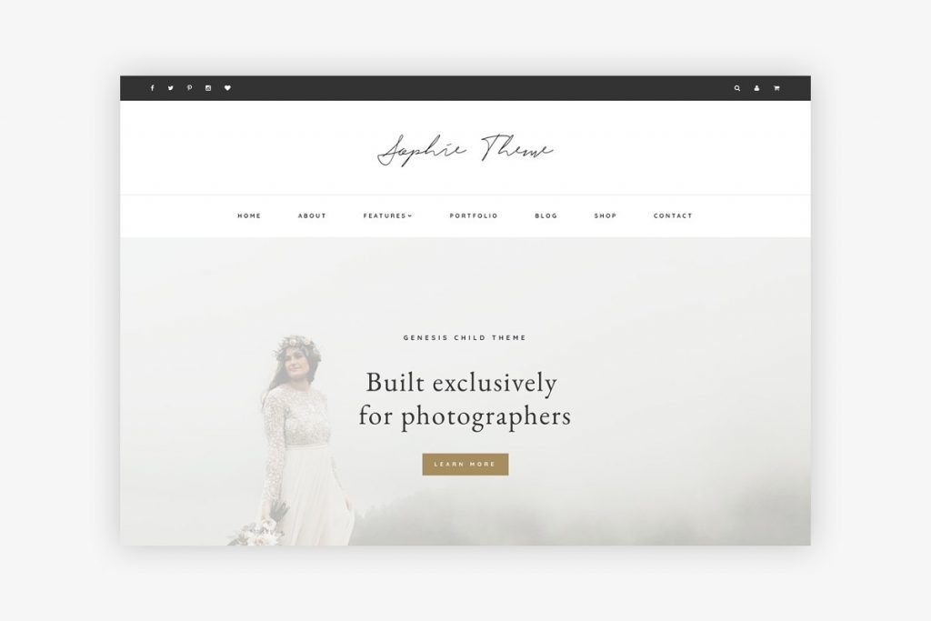 photography website wordpress theme