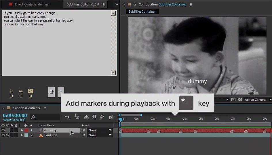 step 2 - Subtitles Editor