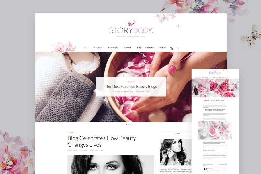 storybook wordpress blog theme