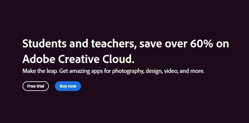 after effects student and teachers creative cloud