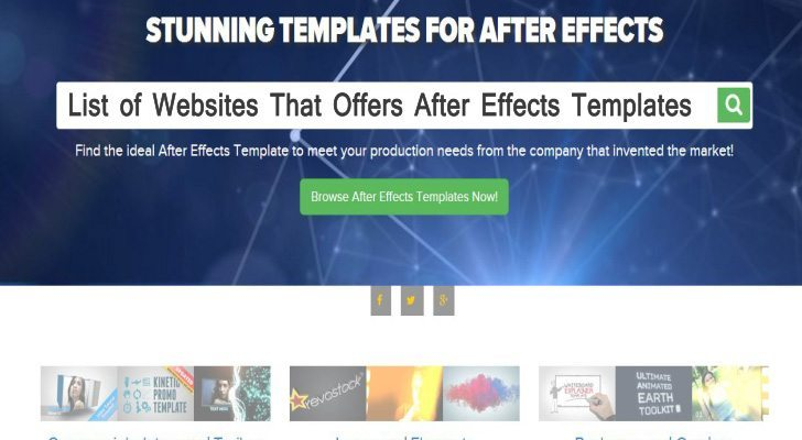 List Of Websites That Offers After Effects Templates - After effects list template