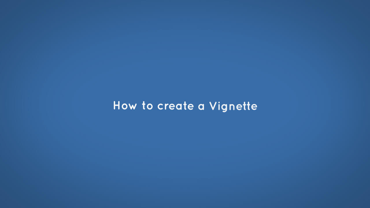 Vignette in after effects